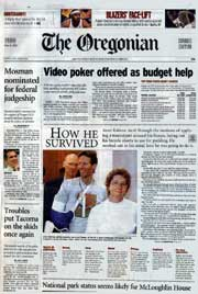 Oregonian cover, May 9, 2003